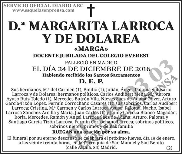 Margarita Larroca y de Dolarea